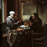 Jan Havicksz Steen - Steen Grace Before a Meal, 1660, oil on panel, Sudeley Castl