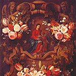 Daniel Seghers - seghers-schutt-and-van-thielen_floral_wreath_with_madonna_and_child_17th-c
