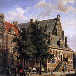 Корнелис Спрингер - Springer Cornelis The Oude Waag at the Westerkerk Sun