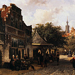 Корнелис Спрингер - Springer Cornelis View of Oudewater Sun