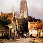 Корнелис Спрингер - Springer Cornelis Church in Zaltbommel Sun