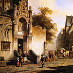 Корнелис Спрингер - Springer Cornelis Coming out of church Sun