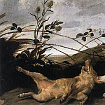 Франс Снейдерс - SNYDERS_Frans_Greyhound_Catching_A_Young_Wild_Boar