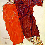 Эгон Шиле - Schiele The truth unveiled, 1913, 48.3 x 32.1 cm,