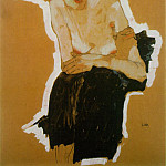 Egon Schiele - Schiele Scornful Woman, 1910, Private