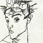 Egon Schiele - Schiele Self-portrait, 1913, pencil, National Museum Stockho