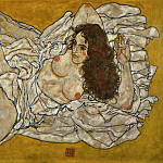 Egon Schiele - Reclining formal nude