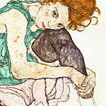 Эгон Шиле - schiele.sitting-woman