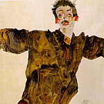 Egon Schiele - Schiele Self-portrait with outstretched hands, 1911, Graphis