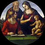 Holy Family with Saint Catherine of Alexandria, Luca Signorelli