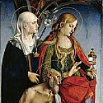 Luca Signorelli - The St. Eustace, Mary Magdalene and Jerome