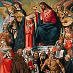 Coronation of the Virgin with Angels and Saints, De Schryver Louis Marie