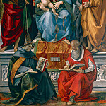 Madonna and Child with John the Baptist, Francis of Assisi, Anthony of Padua, Joseph Bonaventure and Jerome, Luca Signorelli