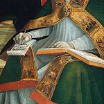 Mary with Child and the Trinity, Archangels and Saints, detail