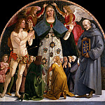 Luca Signorelli - Madonna of Mercy and Saints Sebastian and Bernardino da Siena