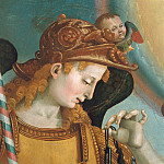 Gaetano Gandolfi - Mary with Child and the Trinity, Archangels and Saints, detail