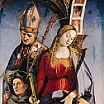 Luca Signorelli - The St. Augustine, Catherine of Alexandria and St. Anthony of Padua