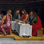 Deposition from the Cross, predella – The Last Supper, Luca Signorelli