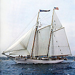 D K Spinaker - dk tall ships bill of rights gaff schooner lyr 1971