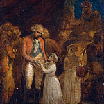 The Two Sons of Tipu Sahib, Sultan of Mysore Being Handed over as Hostages to General Cornwallis