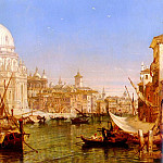 selous_Henry_Courtney_A_View_Along_The_Grand_Canal_With_Santa_Maria_Della_Salute, De Reyna Antonio Maria