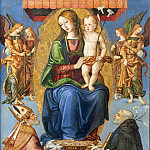Daniel Seghers - Madonna and Child with Saint Dominic
