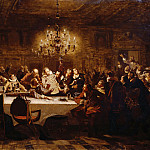 Ferdinand von Rayski - The last banquet of Wallensteins officers