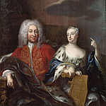 Antoine Pesne - Fredrik I (1676-1751), king of Sweden and Ulrika Eleonora
