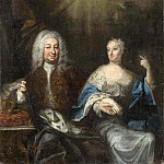 Georg Pauli - Fredrik I (1676-1751), and Ulrika Eleonora d.y., (1688-1741). King and Queen of Sweden