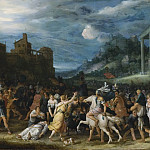 Carl Borromaus Andreas Ruthart - The Horatii Entering Rome [Attributed]