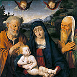 Antonio Barzaghi-Cattaneo - Madonna and Child with Saints Joseph and Simeon