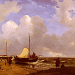 Andreas Schelfhout - Schelfhout_Andreas_Moored_On_The_Beach