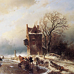 Andreas Schelfhout - Schelfhout Andreas Scaters in stormy weather Sun