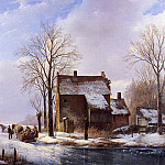 Андреас Схелфхаут - Schelfhout Andreas Scaters near farmers dwelling Sun_2