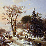 Андреас Схелфхаут - Schelfhout Andreas Country road near castle Sun_2