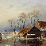 Andreas Schelfhout - Schelfhout Andreas Farmers with a sledge Sun_2