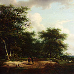 Andreas Schelfhout - Schelfhout_Andreas_Two_Figures_In_A_Summer_Landscape