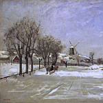 Martinus Rorbye - Winter. View of Eriksberg, Stockholm