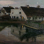 Franz Skarbina - Evening in the Village