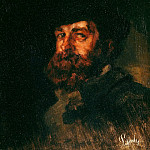 Oswald Achenbach - Portrait of the painter Karl Hagemeister