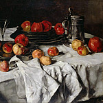 Oswald Achenbach - Still life with apples