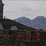 Antoine Pesne - Vesuvius Seen from St January Bridge, Naples