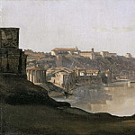 Gustaf Wilhelm Palm - View over the Tiber to the Aventine, Rome