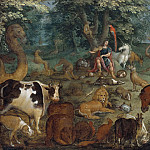 Lucien J. Simon - Orpheus Charming the Beasts [Manner of]