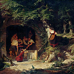 Ferdinand Bellermann - Forge in the Forest
