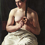 Peter Snijers - Woman braiding her hair
