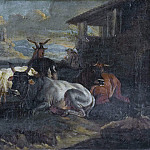 Giovanni Francesco Romanelli - Landscape cattle [After]