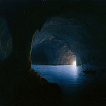 Ferdinand von Rayski - The Blue Grotto of Capri