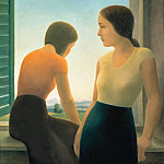 Oskar Schlemmer - Two Girls at the Window