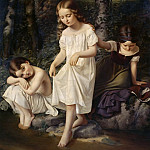 Carl Blechen - Bathing children
